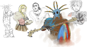 HTTYD 2 Doodles by supervannah