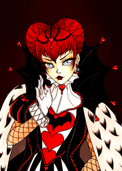 Queen of Hearts by batcheeks