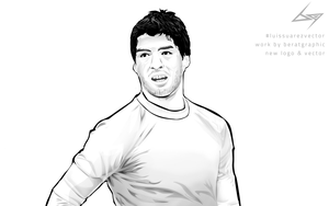 Luis Suarez Vector Work by Berat Graphic by BeroGraphic