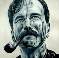 Daniel Day-Lewis. -  There Will Be Blood by urtkayart
