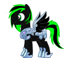 Midnight Evergreen In Armor by MLP-Scribbles