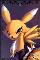 Renamon French Maid by 14-bis