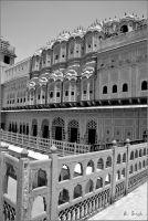 Inside Hawa Mahal by strangerinthecrowd