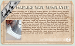 Cosplay Tip 22 - Masking Tape Templates by Bllacksheep