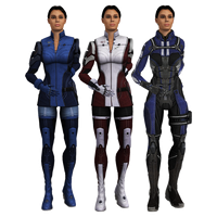 Ashley Williams ME3 Armors with Hair Up [meshmods] by Just-Jasper