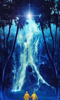 Sacred Waterfall by GeneRazART