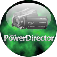 Powerdirector Green Orb Dock Icon by climber07