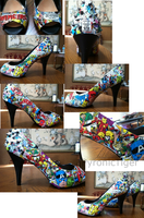 Comic Shoes Details by Pyronic-Tiger