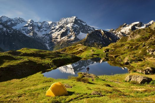 The perfect campsite by matthieu-parmentier