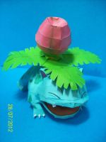 ivysaur papercraft by rafex17