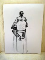 Clothed Man In Chair by Chaindive