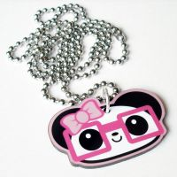 Nerdy Girl Panda Necklace by Panduhmonium