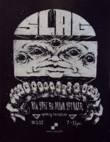 SLAG show poster by KillerNapkins