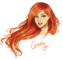 HP sketches: Ginny Weasley by robotswilcry