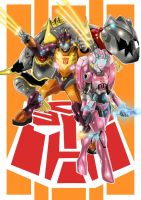 hotrod,arcee  and grimlock by SketchSchmidt-Art
