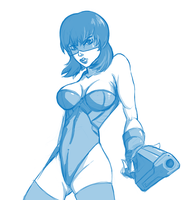 Motoko blue by Siegicard