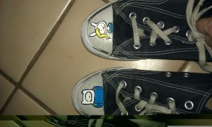 Adventure Time! on my shoes! by Miserys66