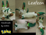 Leafeon Plush by K3RI1