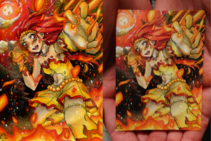 ACEO Commish - Dashing Flame by ICanReachTheStars