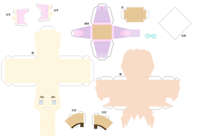 2p England papercraft by DandelmiNia