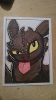 Sketch card Toothless by marcus-g3100
