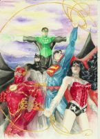 Justice League by SPITEREDESCENT