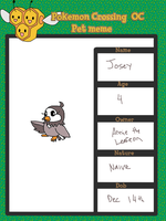 PKMN-C Pet Sheet: Josey the Starly by Cocoafox895