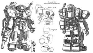 SGD Fed Heavy Mecha by Mecha-Zone