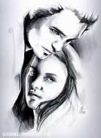 Twilight - Edward and Bella by kleinmeli