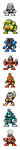 "MegaMan ""Sprites""-Bosses of 4 by WaneBlade"