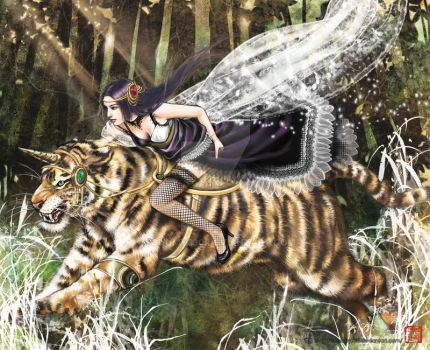 The bride and tiger by schumy330