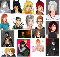 RWBY sketchdump March 2014 by LutherOMight