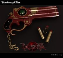 Bayonetta Scarborough Fair Gun by Akiratang