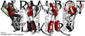 Aerialbots as Seekerboys by WaywardInsecticon