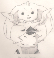 Terriermon and Guilmon by FarCryDreamer