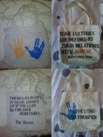 Stenciled Bags by jewlogic