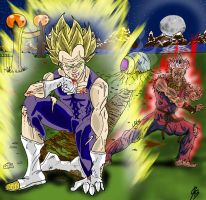 Round Two: Vegeta VS Akuma.... by DamionPheonix