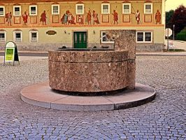 The village fountain of Kronstorf by patrickjobst