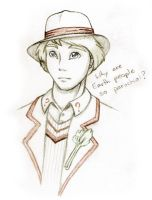 5th Doctor first sketch by deeed