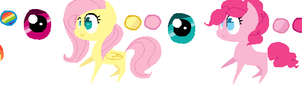 Mane 6 color codes (inluding Spikey wikey ahhh!) by Colorblaze