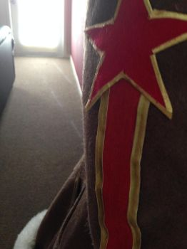 SMITE Red Star Athena Cosplay WIP - Shoulder Stars by Katixxia