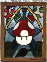 Mario Stained Glass by Ghoastie