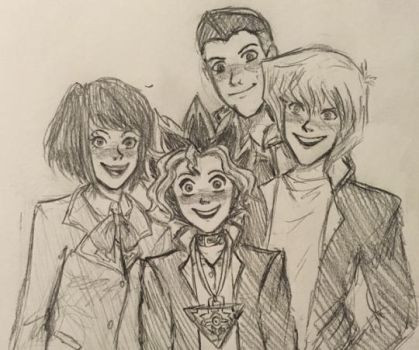 Yugi and Friends by ectonurites