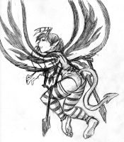 free sketch for girlwithapencil - bad fairy by trisk-7