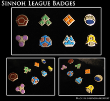 Sinnoh League Badges by BklynSharkExpert
