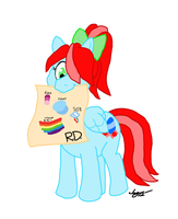Nene has Rainbow Dash's Colors by Captain-Marvelous
