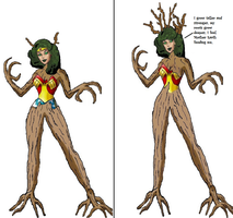 Wonder Woman Tree monster tf 5 by Alonbok77