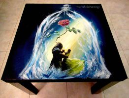 Tale as old as Time, coffee table :) by WormholePaintings