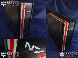 Custom Computer Case - Based off of Mass Effect by RKTDWG