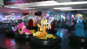 Mane 6 On Bumper Cars by Macgrubor